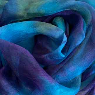 blue margilan silk gauze