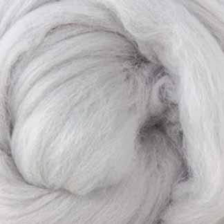 light grey wool roving merino