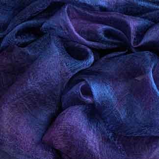 purple margilan silk